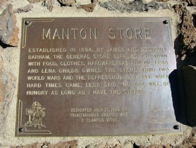 Manton Store Marker image. Click for full size.