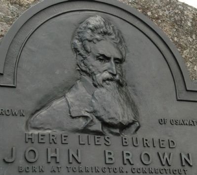 Here Lies Buried John Brown Marker Detail image. Click for full size.
