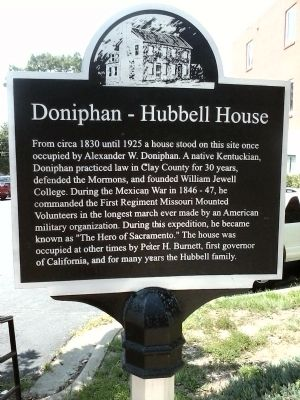 Doniphan – Hubbell House Marker image. Click for full size.