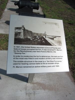Fort Marion Marker image. Click for full size.