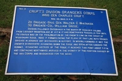 Cruft's Division - Granger's Corps Marker image. Click for full size.
