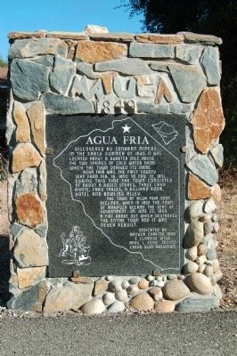 Agua Fria Marker image. Click for full size.