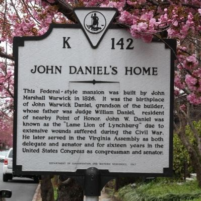 John Daniel's Home Marker image. Click for full size.