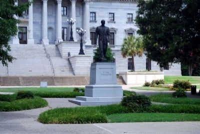 Strom Thurmond Statue<br>South View<br>S.C. Statehouse in Background Photo, Click for full size