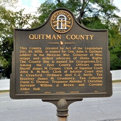 Quitman County Marker image. Click for full size.