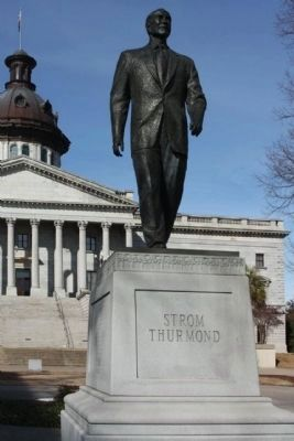 The State House , Strom Thurmond Monument on south lawn Photo, Click for full size