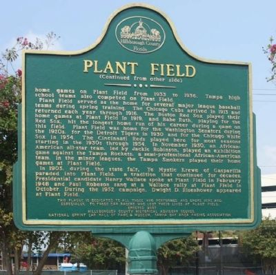 Plant Field Marker, rear text Photo, Click for full size