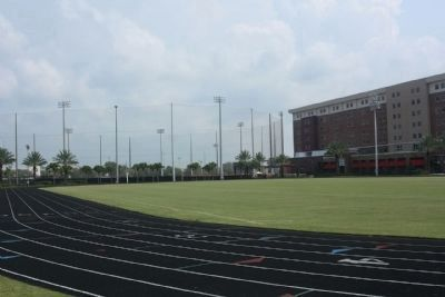 Plant Field Track, with soccer and baseball field in distance Photo, Click for full size