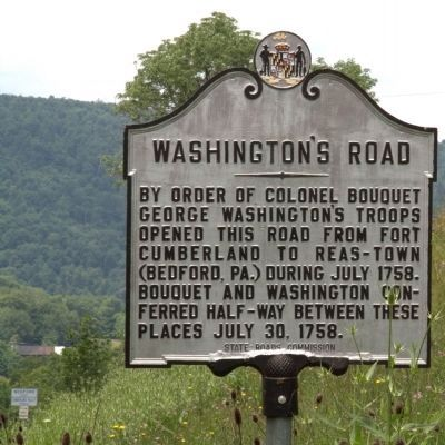 Washington's Road Marker image. Click for full size.