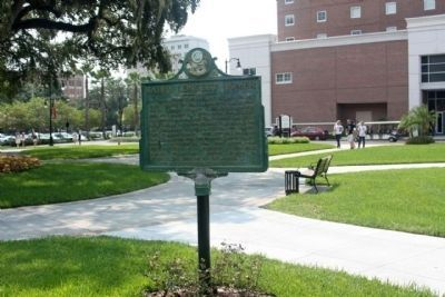 Babe's Longest Homer Marker along West North B Street, on the University of Tampa campus Photo, Click for full size
