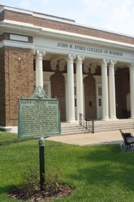Babe's Longest Homer Marker, in front of John Sykes College of Business Photo, Click for full size