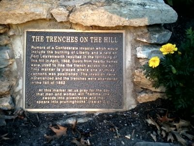 The Trenches On The Hill Marker image. Click for full size.