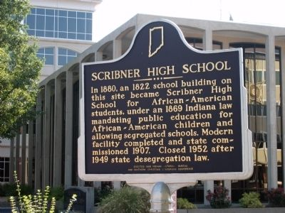 Scribner High School Marker image. Click for full size.