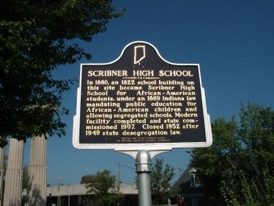 Obverse SIde - - Scribner High School Marker image. Click for full size.