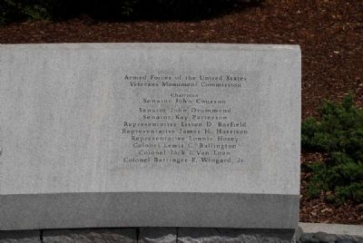 South Carolina Veterans Memorial<br>North Bench Inscription image. Click for full size.