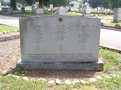 Elmwood Cemetery Confederate Soldiers Marker image. Click for full size.