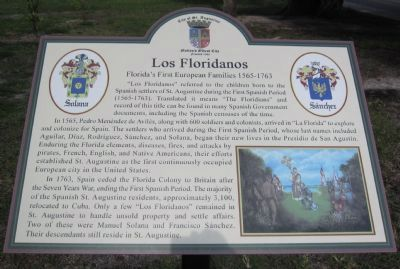 Los Floridanos Marker Photo, Click for full size