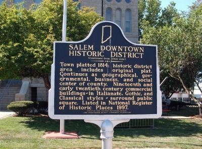 Salem Downtown Historic District Marker image. Click for full size.