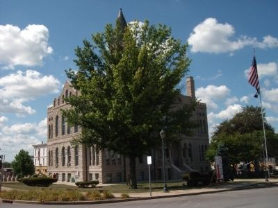 North/East Corner - - Washington County Courthouse - - Salem, Indiana image. Click for full size.