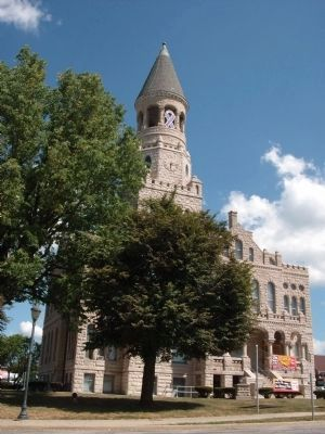 South/West Corner - - Washington County Courthouse - - Salem, Indiana image. Click for full size.