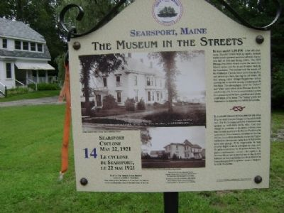 Searsport Cyclone Marker image. Click for full size.