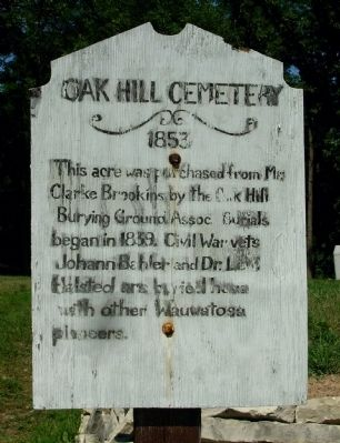 Oak Hill Cemetery Marker image. Click for full size.