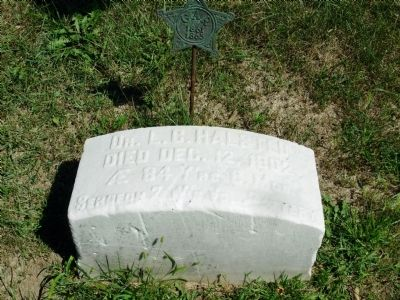 Dr. L.C. Halsted Headstone image. Click for full size.