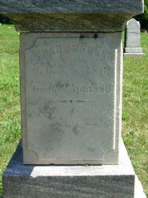 Close Up of Johann Bahler Headstone image. Click for full size.