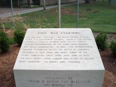 Civil War Memorial Marker Photo, Click for full size