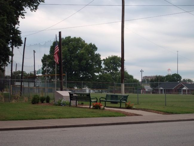 Civil War Memorial & Ball Field Photo, Click for full size