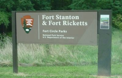 Fort Stanton and <i>Fort</i> Ricketts image. Click for full size.