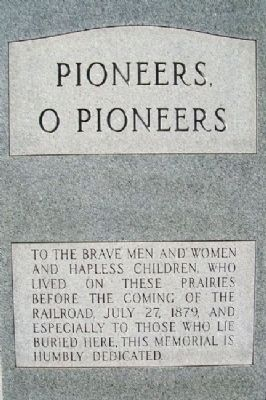 Pioneers, O Pioneers Monument image. Click for full size.