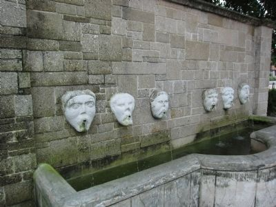 Fountain and Masks image. Click for full size.