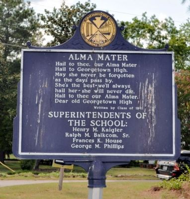 Georgetown High School / Alma Mater Marker image. Click for full size.