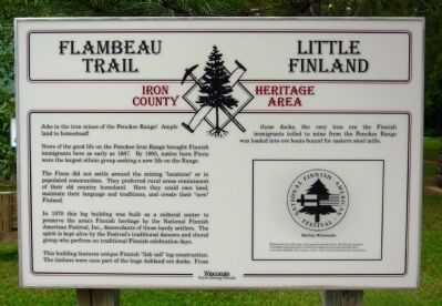 Flambeau Trail - Little Finland Marker image. Click for full size.