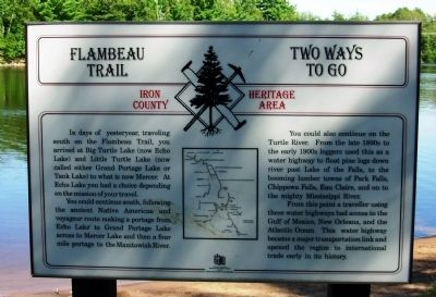 Flambeau Trail – Two Ways to Go Marker image. Click for full size.