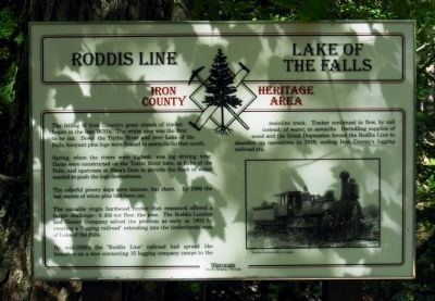 Roddis Line – Lake of the Falls Marker image. Click for full size.