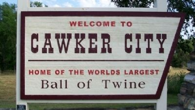 Cawker City Welcome Sign image. Click for full size.