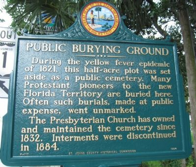 Public Burying Ground Marker Photo, Click for full size
