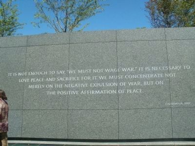 Martin Luther King, Jr. Memorial Marker Photo, Click for full size