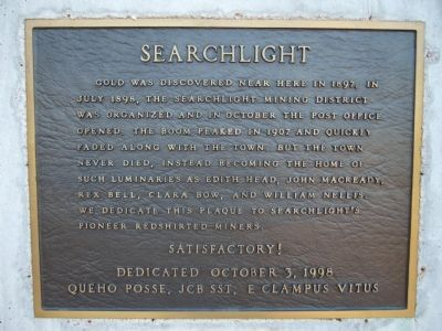 Searchlight Marker image. Click for full size.
