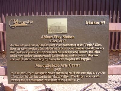 Abbott Way Station Marker image. Click for full size.