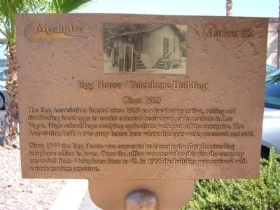 Egg House / Telephone Building Marker image. Click for full size.