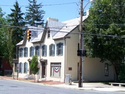 Elliott-Bester House and Marker seen along South Potomac Street image. Click for full size.