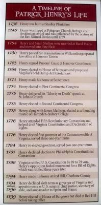 A Timeline of Patrick Henry�s Life Photo, Click for full size