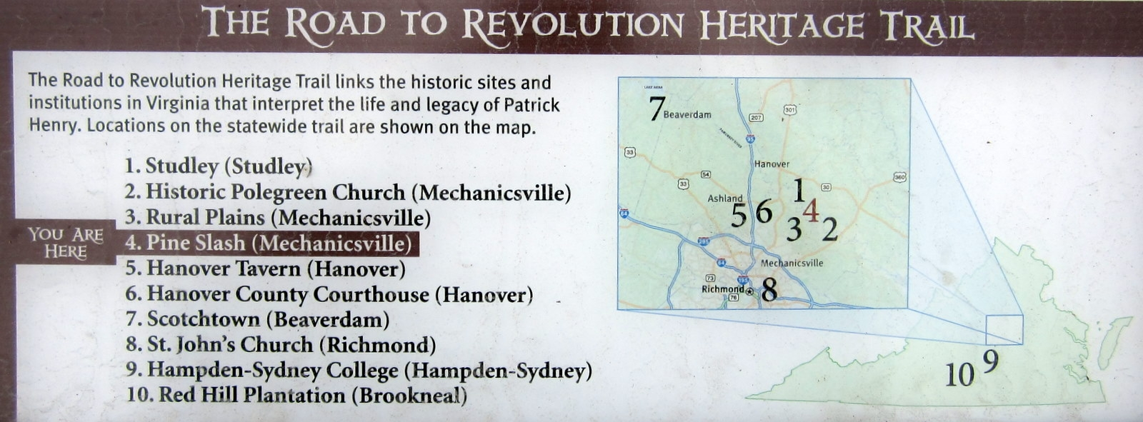 The Road to Revolution Heritage Trail