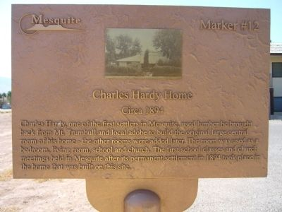 Charles Hardy Home Marker image. Click for full size.