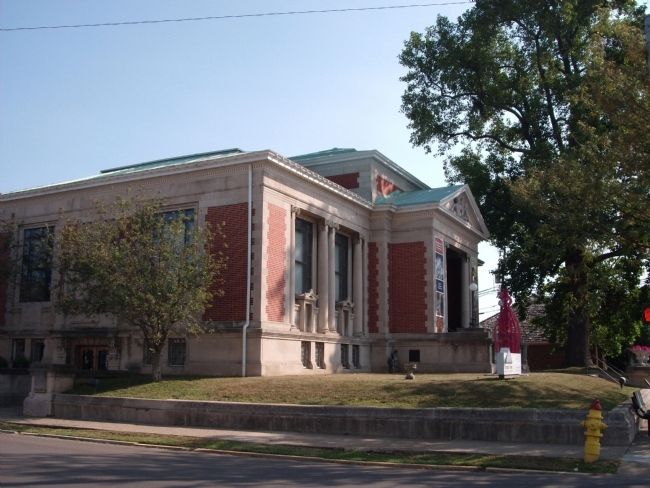 South/West Corner - - New Albany's Carnegie Library - - New Albany, Indiana image. Click for full size.