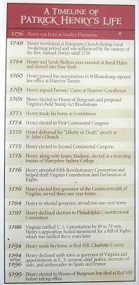 A Timeline of Patrick Henry�s Life image. Click for full size.