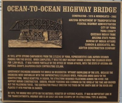 Ocean-to-Ocean Bridge Highway Bridge Marker image. Click for full size.
